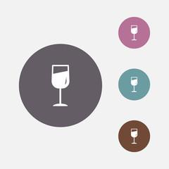 wine glass icon vector illustration