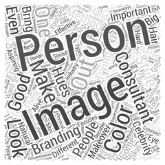 what makes a good image consultant Word Cloud Concept