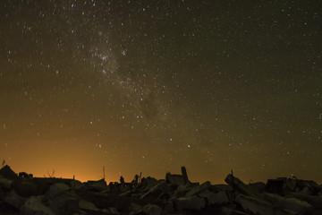Cielo nocturno en Epecuén, Buenos Aires, Argentina