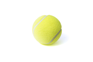 Tennis ball isolates on the white background