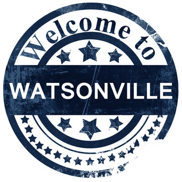watsonville stamp on white background