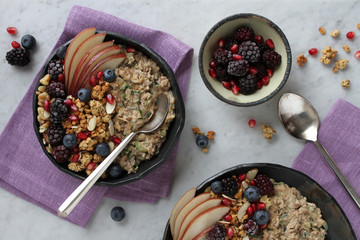 Zucchini Oats with Fruit