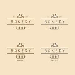 Bakery Logo Vintage Design Set