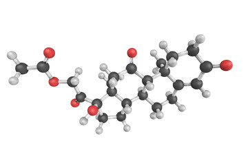 Cortisone, a pregnane steroid hormone. One of the main hormones
