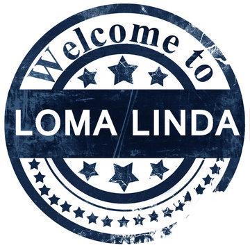 loma linda stamp on white background