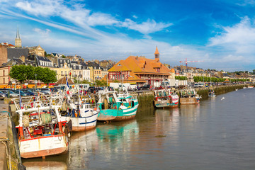 Trouville and Touques river Fototapete