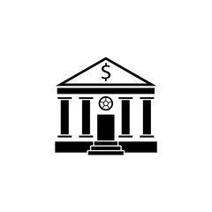 Bank building solid icon, banking house, vector graphics, a filled pattern on a white background, eps 10.