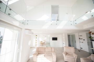New white modern interior house inside