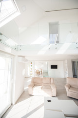 New white modern interior house inside
