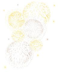feu d'artifice fête illustration