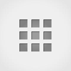squares grey icon