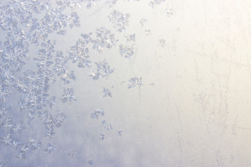 abstract clear fragile ice macro snowflakes pattern