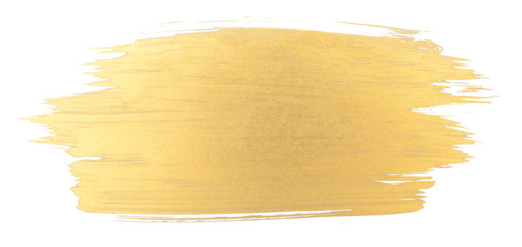 Gold watercolor texture brush stroke