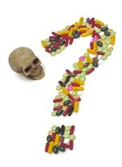 Pills, question, symbol