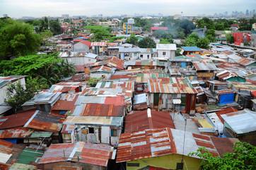 bidonville à Manille