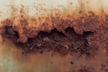 rust on a metal door