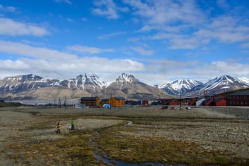 Longyearbyen in Svalbard, Spitsbergen