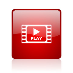 Play video blue bubble icon