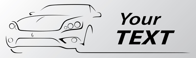 Car abstract lines vector. Vector illustration