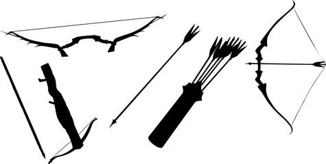 弓矢のシルエット