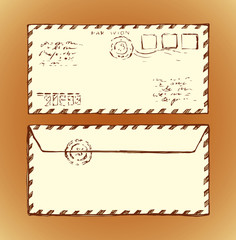 Envelope. Vector drawing