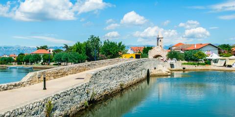 Entrance to the historic city of Nin, Croatia