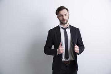 Confident bearded businessman