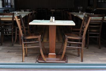 Esstisch in Restaurant, Gastronomie