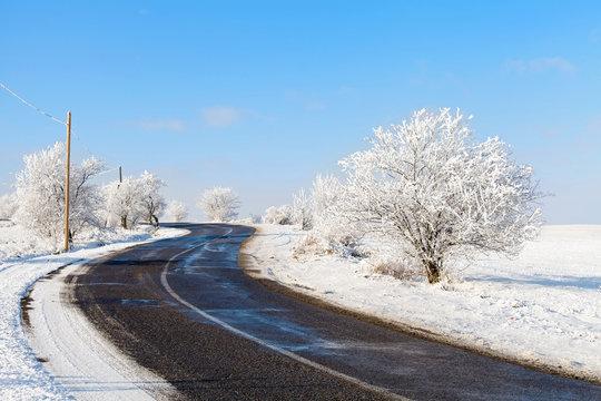 Beautiful winter roadtrip