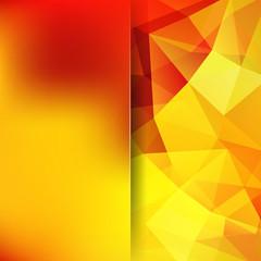 Abstract polygonal vector background. Orange geometric vector illustration. Creative design template. Abstract vector background for use in design