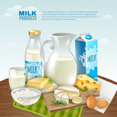 Milk Products Background