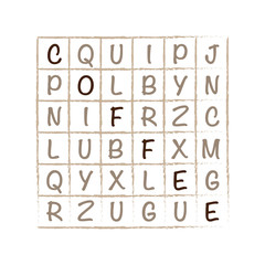Crossword with word Coffee web vector graphic