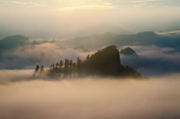 Sokolica in clouds