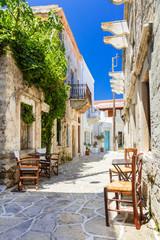 Uliczka 3D w Grecji