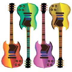 guitar, vector, music, musical, acoustic, rock, illustration