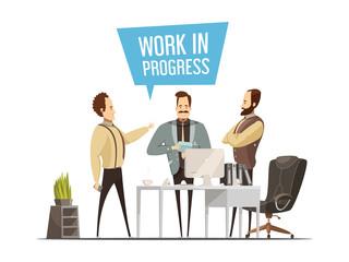 Work Meeting Cartoon Style Design