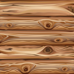 Texture of natural wood. Vector image. Light brown wooden background.