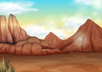 Scene with field of desert
