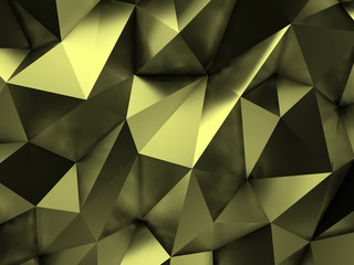 Green Abstract Background 3D Rendering