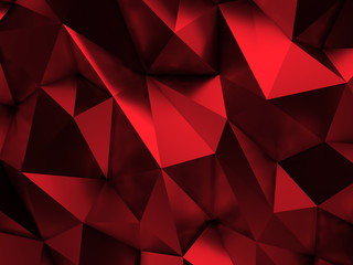 Red Abstract Background 3D Rendering