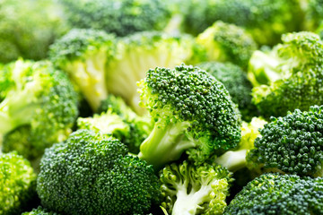 fresh broccoli as background