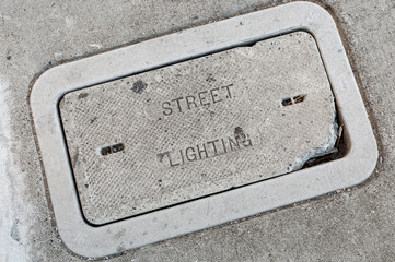 electrical underground pull box, street lighting cover