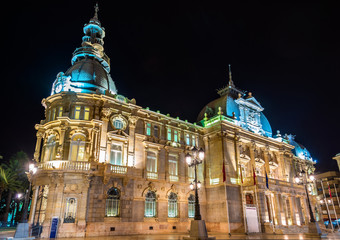 Palacio consistorial, the city hall of Cartagena, Spain