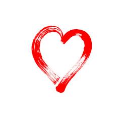 brush stroke sketch drawing of hearts shape set to valentines da