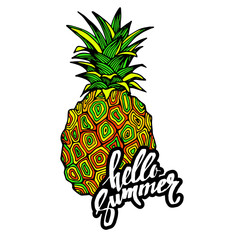 pineapple, vector, fruit, food, tropical, summer, design