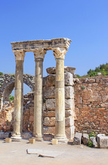 The ancient Greek and Roman city of Hierapolis, Turkey