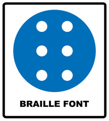 Braille icon, simple style