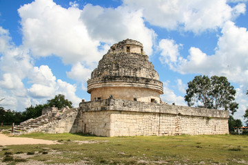Maya Observatory of Chichen Itza. Mexico.