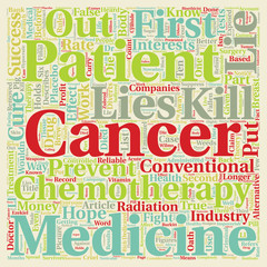 Cancer Lies Impoverish You Before You Die part 2 text background wordcloud concept