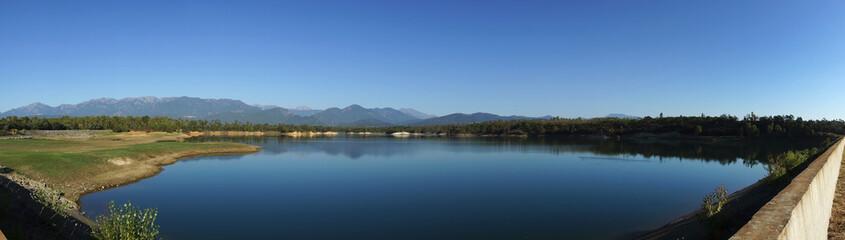 réservoir d'Alzitone dans la plaine orientale de Corse